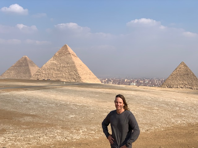 Dr. Group At Giza Pyramids